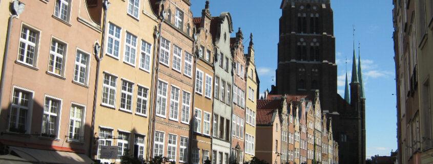 Piwna Street st . mary s church Gdansk